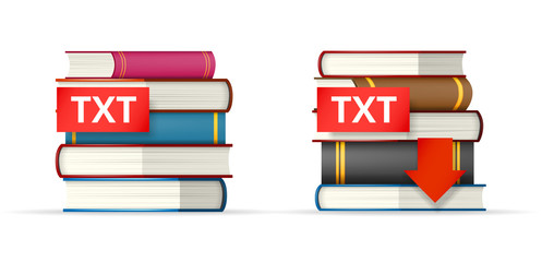 TXT books stacks  icons