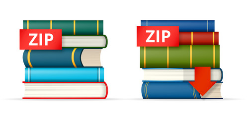 ZIP books stacks  icons