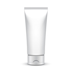 Tube Of Cream Or Gel Grayscale Silver White Clean