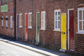 Coloured doors down Love Lane