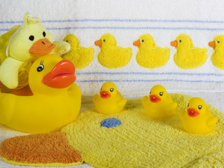 Rubber Ducky Bath Set