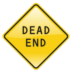 dead end road and traffic sign