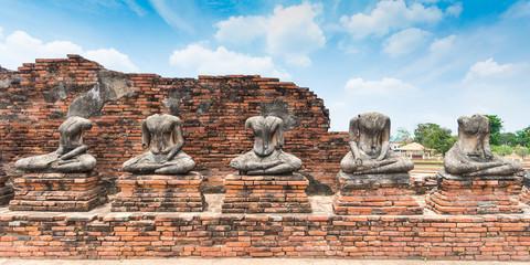 Broken Buddha statue at Ayuttaya, Thailand
