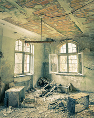 Printed kitchen splashbacks Old Hospital Beelitz Abandoned Hospital in Beelitz near Berlin in Germany