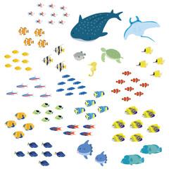 熱帯魚 アイコンセット