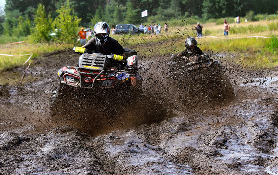 Off-road racing on ATV