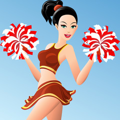 The cheerleader girl