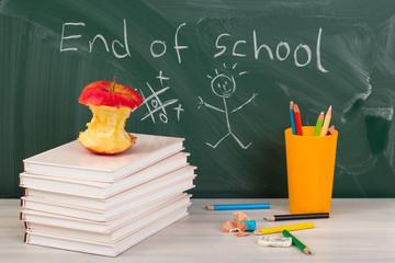 End of school. Summer break time.