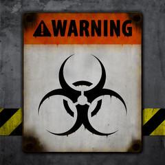 Warnschild, Alt, Grunge, Biohazard