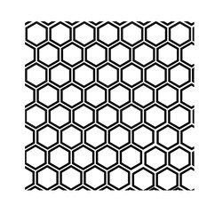 black and white geometric pattern with honeycombs