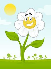 Cartoon Flower Mascot