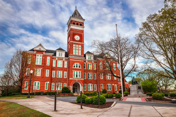 Historic building in Clemson, SC Wall mural