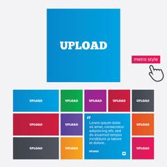 Upload sign icon. Load symbol.