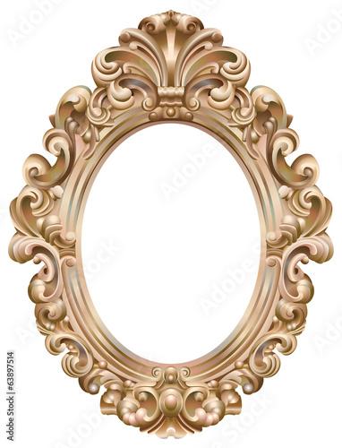 cadre baroque ovale dor fichier vectoriel libre de droits sur la banque d 39 images. Black Bedroom Furniture Sets. Home Design Ideas
