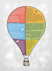 infographic vector balloon
