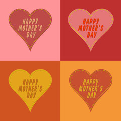 Happy mother's day heart patch style