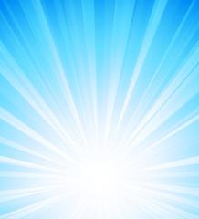 Blue summer sun light burst