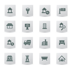 Building,house icon set,vector