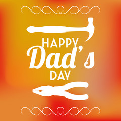 Vector Happy Father's Day Template Card Background