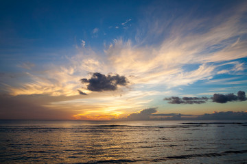 Sunset on the sea in Guam
