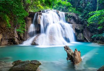 Huay Mae Kamin Waterfall at Kanchanaburi province, Thailand Wall mural