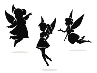 silhouettes of little fairies