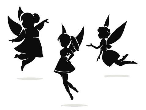 silhouettes of little fairies