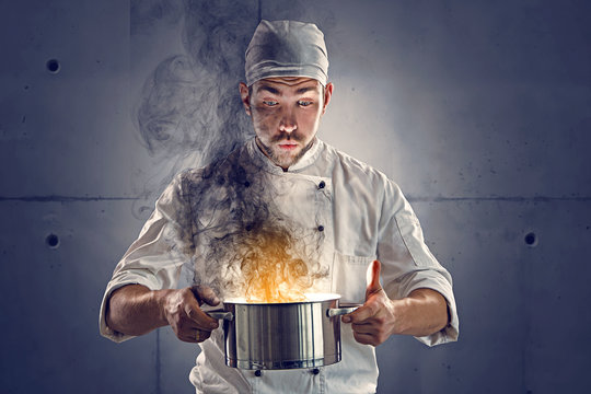Chef burned the food