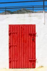 Red door, red gate