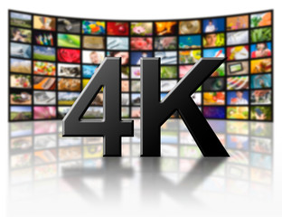4k resolution tv concept.