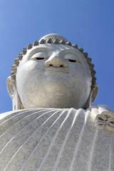 The big buddha phuket and blue sky