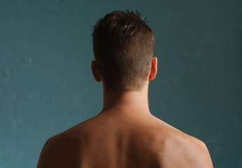 Man head and back from behind