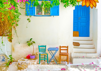 traditional house in a vilage of Amorgos island in Greece