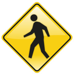 road and traffic sign