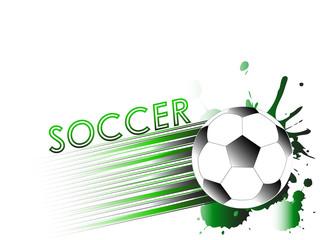 Soccer, football ball on white background