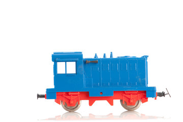 toy diesel locomotive on white