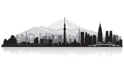 Wall Mural - Tokyo Japan city skyline silhouette