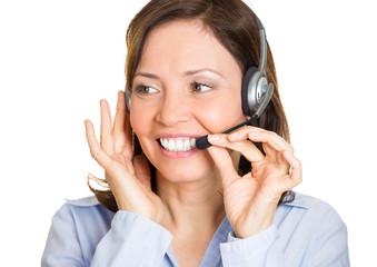 Portrait , headshot Happy, smiling  customer representative