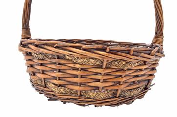 empty basket on white background