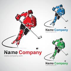 hockey sur glace hockey sur gazon club joueur hockeyeur logo