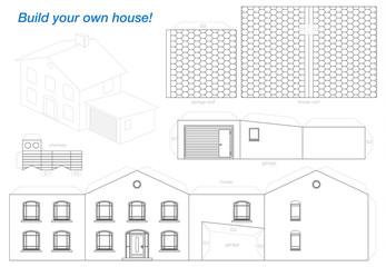 Paper Model House Outline