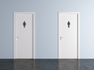 toilet doors for male and female genders