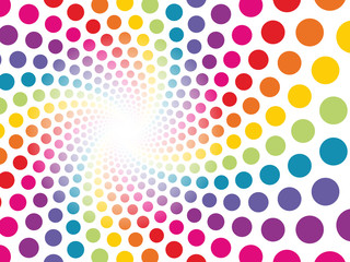 circular background made up of colored dots to be lost