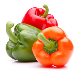 Fototapete - Sweet bell pepper isolated on white background cutout