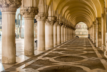 Canvas Prints Venice Ancient Columns in Venice. Arches in Piazza San Marco, Venezia