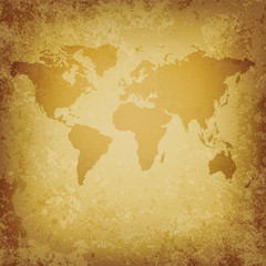 old vector World map blank template