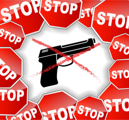 Stop weapon illustration