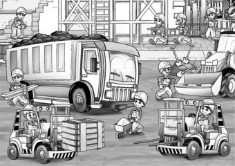 Construction set - coloring page