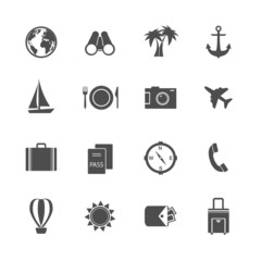Holidays vacation pictograms collection