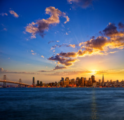 Photo sur Plexiglas San Francisco San Francisco skyline at sunset, California, USA